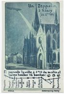MILITARIA 14-18. NANCY (54) UN ZEPPELIN à NANCY. 26 OCTOBRE 1914. - Nancy