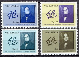 Venezuela 1982 - Andres Bello, Complete Set - Michel 2201-04 - MLH, Avec Charniere, Ungebraucht - Venezuela