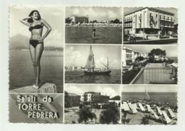 SALUTI DA TORRE PEDRERA -   VIAGGIATA FG - Rimini