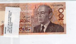 Cent Dirhams Devise - 1987 - Hassan II - Bank Al Maghrib - P62b- Etat NEUF - RARE - Maroc