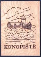 Czech Republic Konopiste / Castle / Postkarte Aus Holz, Holzkarte / Wooden Postcard - Other