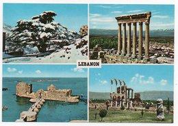 LIBAN/LEBANON - MULTIVUES / CEDARS / BAALBECK / SIDON / ANJAR (TELKO SPORT) - Libano