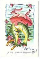 1ER AVRIL - POISSON D'AVRIL - Carte Pailletée - Editeur IDA 746 - 1er Avril - Poisson D'avril