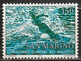 San Marino 1979 - Sci Nautico - MNH ** - San Marino
