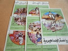 Miniature Sheets Libya 1980 Games 5 Blocs - Libya