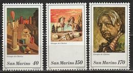 San Marino 1979 - Giorgio De Chirico - 3 Valori MNH ** - San Marino