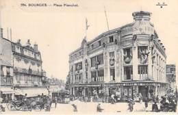 """18 - BOURGES :  GRAND MAGASIN """" LES DAMES DE FRANCE """" Place Planchat - CPA - Cher ( Berry ) - Geschäfte"""