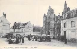 60 - SENLIS : Place Saint Pierre Jour De Marché ( Animation ) - CPA - Oise - Senlis