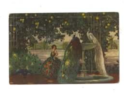 Femme Sous Les Arbres - Paons Et Paonne - 7253 - Paintings