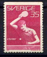 SUEDE - 561a** - TENNIS DE TABLE - Unused Stamps