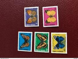 DJIBOUTI 1984 5v Neuf MNH ** Mi 386 A 390 Butterflies  Of Djibouti - Mariposas