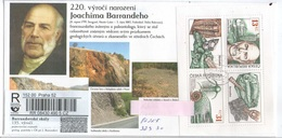 Czech Republic 2019 - Anniversary Of J.Barrande,special Reg.label, Nice Stamps, Postage Registered Used - Geology