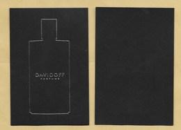 Carte Parfumée Perfume Card DAVIDOFF * R/V - Modern (from 1961)