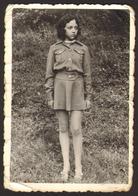 Child School Girl Outside  Old Photo 6x9 Cm #28403 - Persone Anonimi