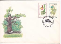 Lituanie   Lietuva 1992  Flowers FDC - Lithuania