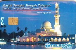 MALAYSIA(chip) - Tengku Tengah Zaharah Mosque, Telecom Malaysia Telecard RM20, Chip Siemens, Used - Malaysia