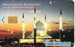 MALAYSIA(chip) - Sultan Salahuddin Mosque, Telecom Malaysia Telecard RM10, Chip Siemens, Used - Malaysia