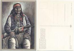 AK Indianer, Apachen Krieger Um 1880, K. D. Kubat, Planet Verlag Berlin - Indianer