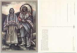 AK Indianer, Indianisches Paar Um 1920, K. D. Kubat, Planet Verlag Berlin - Indianer