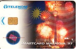 "MALAYSIA(chip) - Kuala Lumpur Tower, Smartcard Malaysia ""97, Telecom Malaysia Telecard RM10, Chip Siemens, Used - Malaysia"