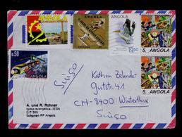 ANGOLA Ciment Industry Factorys Tennis Byciclisme Central Afric Games Faune Animals Birds Pelicano-branco Oiseaux #8075 - Pélicans