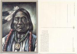 AK Indianer, Häuptling Red Cloud Um 1860, K. D. Kubat, Planet Verlag Berlin - Indianer