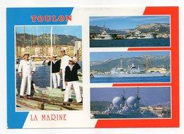 TOULON--Multivues --La Marine--Marins --bateaux ,Foch ,Clémenceau,Cassard,Suffren Et Duquesne-timbre-cachet... à  Saisir - Toulon