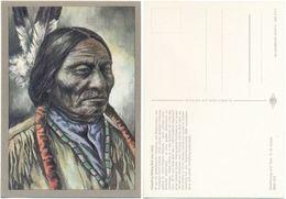 AK Indianer, Häuptling Sitting Bull Um 1880, K. D. Kubat, Planet Verlag Berlin - Indianer