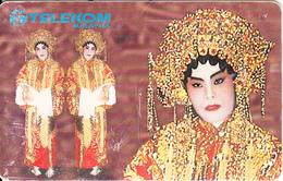 MALAYSIA(chip) - Costume Of Chinese Opera, Telecom Malaysia Telecard RM10, Chip GEM3.1, Used - Malaysia