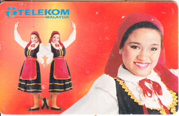 MALAYSIA(chip) - Costume Of Portuguese Community, Telecom Malaysia Telecard RM10, Chip GEM3.3, Used - Malaysia