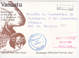 1992 , Vanuatu  To Moldova , Used Cover - Vanuatu (1980-...)