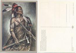 AK Indianer, Dakota Krieger Um 1870, K. D. Kubat, Planet Verlag Berlin - Indianer