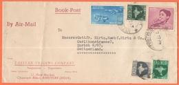 INDIA - 1965 - 5 Stamps - Airmail - Book Post - Eastern Trading Company - Viaggiata Da Amritsar Per Zurich, Switzerland - India