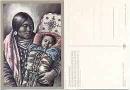 AK Indianer, Crow Indianerin Mit Kind Um 1860, K. D. Kubat, Planet Verlag Berlin - Indianer