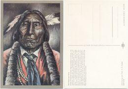 AK Indianer, Cheyenne Krieger Wolf Robe 1870, K. D. Kubat, Planet Verlag Berlin - Indianer