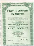 Ancien Titre - Produits Chimiques De Nieuport - Société Anonyme -Titre De 1958 - Industrie