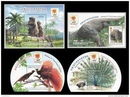 North Korea 2017 Mih. 6391/94 (Bl.943/46) Fauna Of Indonesia. Monkeys. Varans. Birds Of Paradise. Peacocks MNH ** - Korea, North