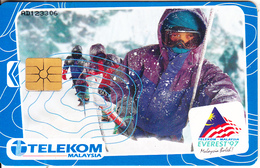 "MALAYSIA(chip) - Malaysian Everest ""97 Team, Telecom Malaysia Telecard RM10, Chip GEM1.2, Used - Malaysia"