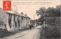 CHAUCONIN Village Pres De Meaux Ferme Incendiee Par Les Allemands 17(scan Recto-verso) MA1217 - Autres Communes