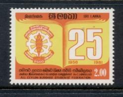 Sri Lanka 1981 Budhist Students MUH - Sri Lanka (Ceylon) (1948-...)