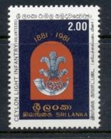 Sri Lanka 1981 Ceylon Light Infantry Regiment MUH - Sri Lanka (Ceylon) (1948-...)