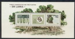 Sri Lanka 1981 Forest Conservation MS MUH - Sri Lanka (Ceylon) (1948-...)