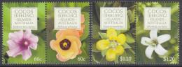 COCOS Is, 2010 FLOWERS 4 MNH - Cocos (Keeling) Islands