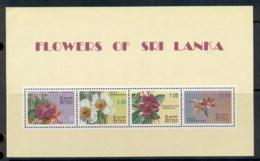 Sri Lanka 1982 Flowers MS MUH - Sri Lanka (Ceylon) (1948-...)