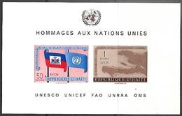 Haiti   1958  Sc#C135    Airmail Souv Sheet  MNH  2016 Scott Value $3.50 - Haiti