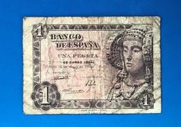 SPAIN 1 PESETAS 1948 - [ 3] 1936-1975 : Regency Of Franco