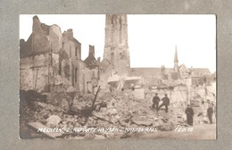 Carte Photo Fotokaart 1914 1918  Duitsers Op De Puinen Van Mechelen 1914  140 Mm X 90 Mm - Mechelen