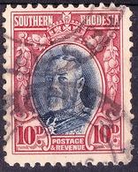 SOUTHERN RHODESIA 1931KGV 10dBlue & Scarlet SG22Used - Rhodesia Del Sud (...-1964)
