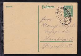 HAMBURG-STETTIN BAHNPOST Zug 338 7.6.26 Auf Ganzsache - Briefmarken