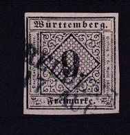 Ziffer 9 Kr. Mit L2 FREUDENSTADT 17 AUG - Wurttemberg